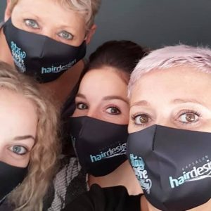 Mondmaskers Kapsolon team Hairdesign